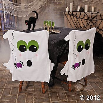 Halloween Chair Covers ~ can easily be made with pillow case and some felt