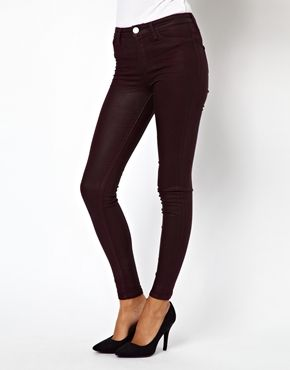 Image 1 of River Island Coated Jegging