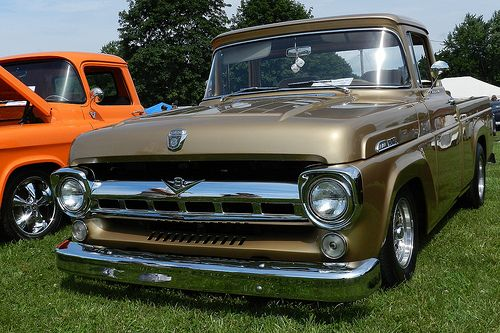 Gold 1957 Ford F100   Flickr - Photo Sharing!