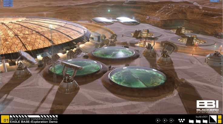 Project Eagle shows what a human settlement on Mars could look like.