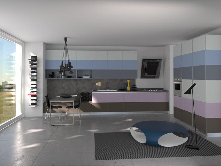 Tetrix by Micheal #Young #Scavolini #kitchen #Livingroom Colour Kit K9