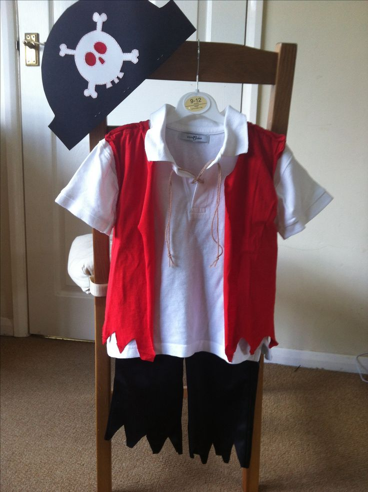 DIY pirate kids costume