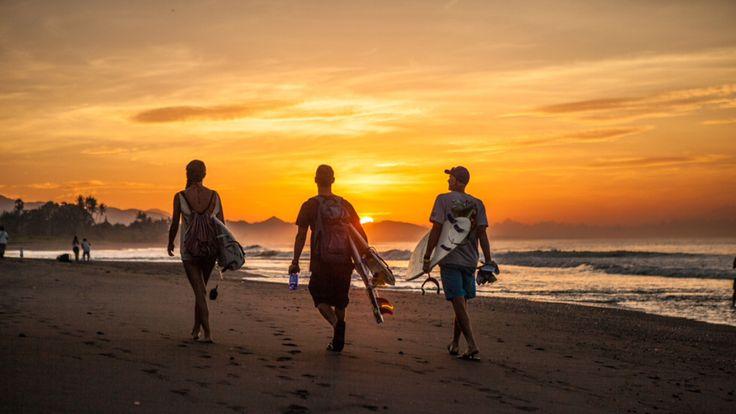 Sunrise surfers