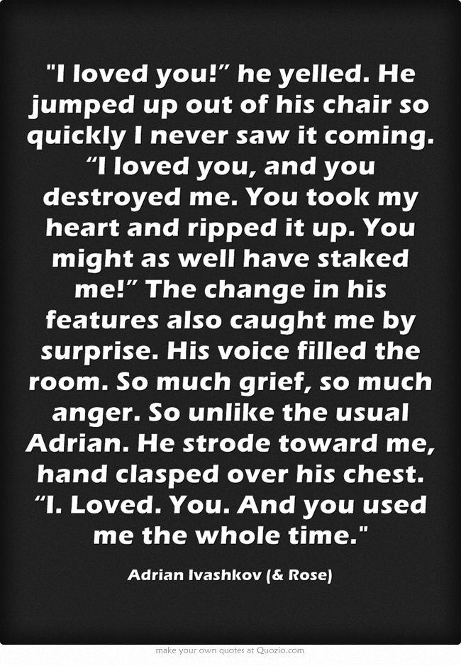 Vampire Academy Quotes | Adrian Ivashkov (& Rose)