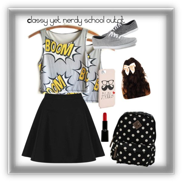 Classy and nerdy school outfit – Clothes