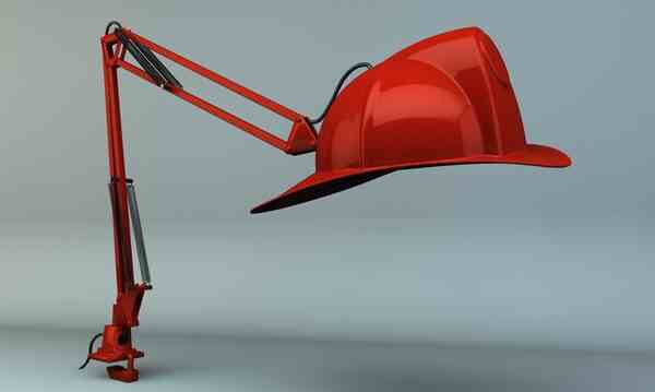 Use that old #firefighter hat and attach it to a lamp. Another way to reuse/recycle old #fire equipment & tools. #DIY
