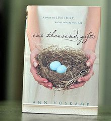 I think Ann Voskamp uses words like an artist uses paint to create beautiful pictures that go deep into the secret places of the heart, touching you in a way that you will never be the same.  #onethousandgifts