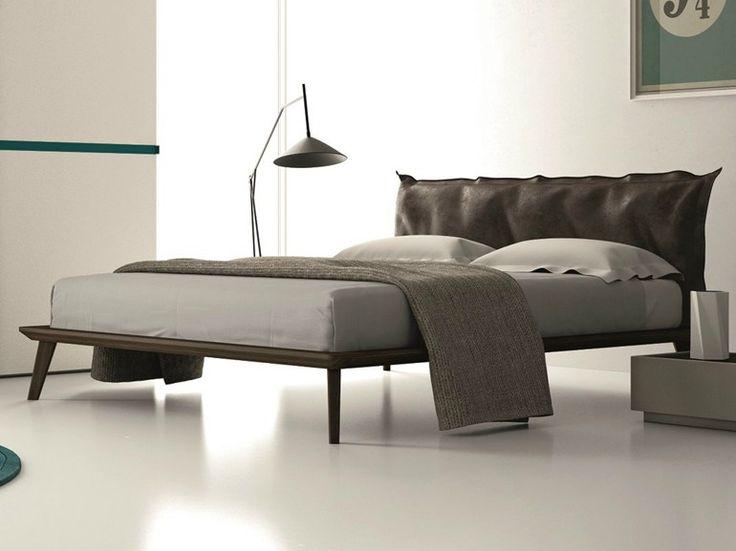 Doppelbett aus Eichenholz mit Polsterkopfteil MORGAN by Dall'Agnese | Design Imago Design, Massimo Rosa