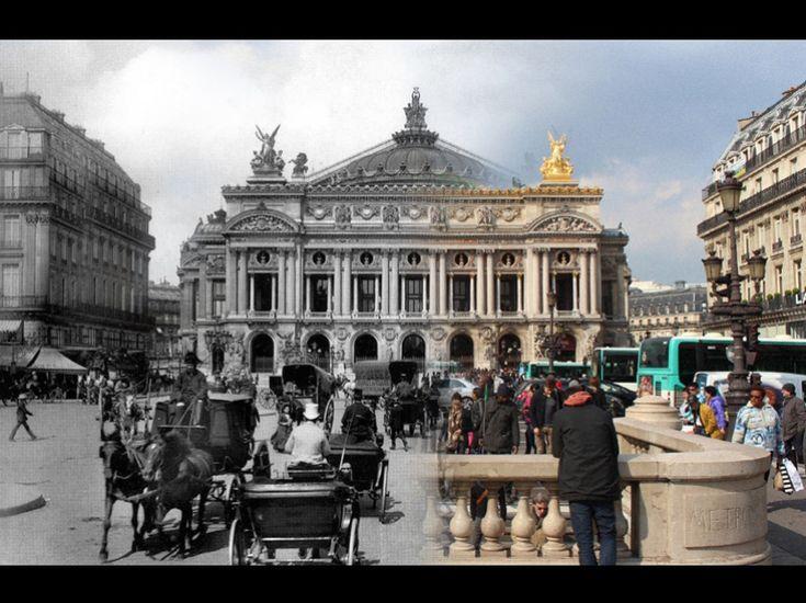 Les mêmes lieux parisiens, saisis à quelque cent ans d'écart, réunis dans une seule image. De ce concept, Julien Knez a tiré une série d'images bluffantes. Sélection.