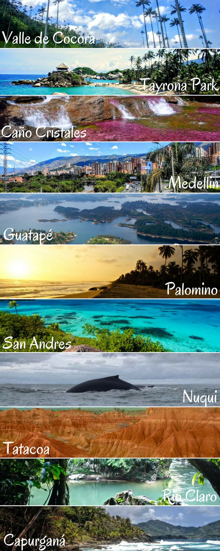 Colombia!! After living almost 3 years in Colombia my blog developed a strong focus on this amazing country. But not only Colombia, I also love the rest of South America. Help me spread the beauty of this diverse country and please repin. People should kn