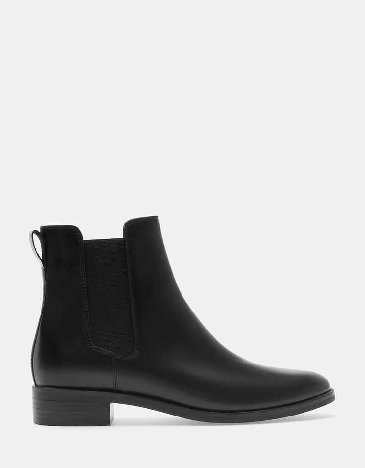 Elasticated LEATHER ankle boots
