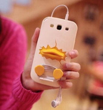 2013 3D Phone Case Animal Duck Cover for Samsung Galaxy S3 S4 Iphone 4s 5 on Etsy, $18.56