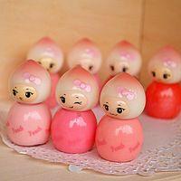 Eastlina sueño melocotón pequeña princesa brillo de labios de mini brillo de labios color nude muñeca