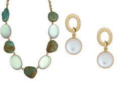 Alchemia Luminite & Campo Frio Turquoise Necklace+Earrings