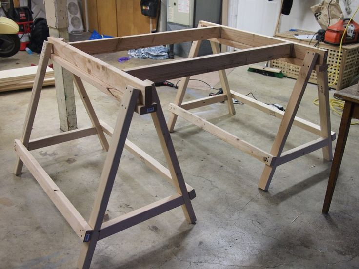 1000 images about sawhorses on pinterest the family for 2x4 farm table