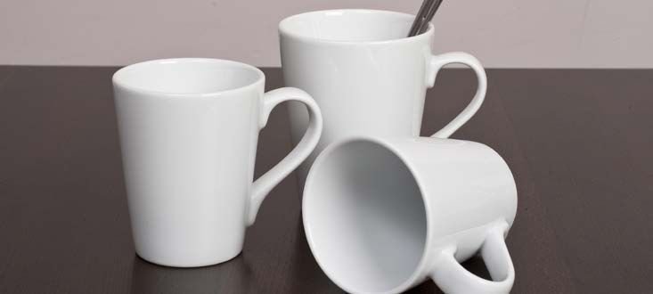 Royal Porcelain Titan Mugs are Perfect for Latte, Coffee and Other Hot Drinks in Café's and Coffee Shops