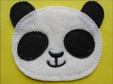 4 pcs of Cute Panda Iron on Patches Applique Craft Baby
