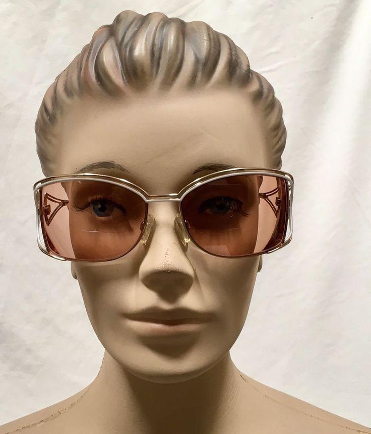 Cazal Sunglasses Designer Eyeglasses Frame Vtg Eyewear Goldtone White Glasses #CAZAL #Designer