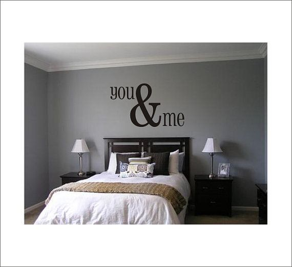 You & Me Large Vinyl Wall Decal Housewares Home Decor Master Bedroom 22x38 on Etsy, $30.00