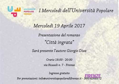 Toscana: I #Mercoledì #dell'Università Popolare - incontro del 19 aprile 2017 (link: http://ift.tt/2nl8hD3 )