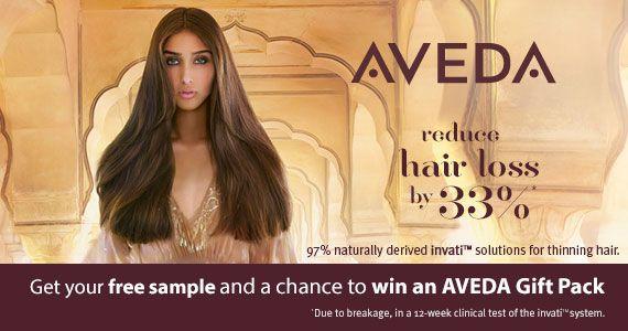 Get A Free Sample Of AVEDA Invati
