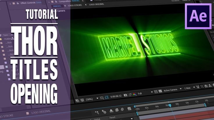 Tutorial y Editable After Effects Thor opening titles by @ildefonsosegura