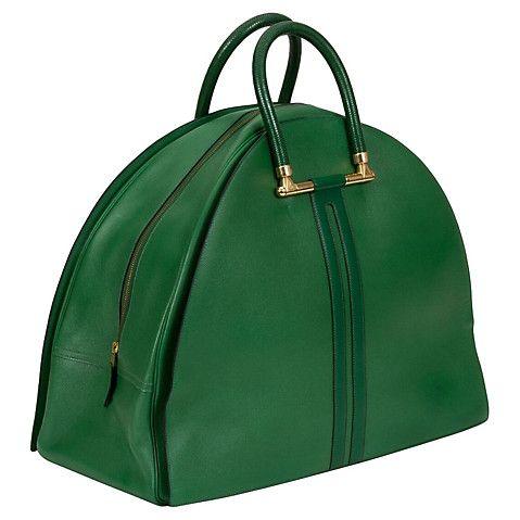 Oversize Hermès Bengale Green Bag