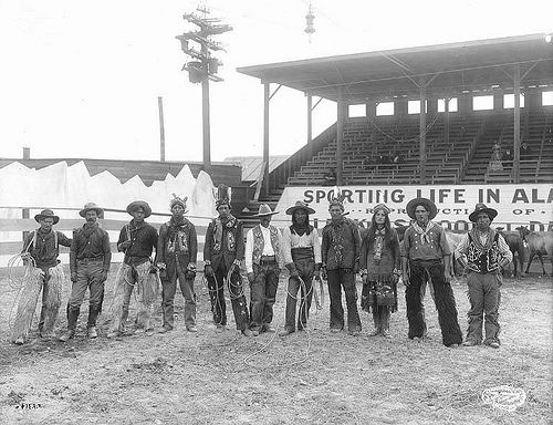 Wild West show, Pay Streak, Alaska Yukon Pacific Exposition, Seattle, 1909.