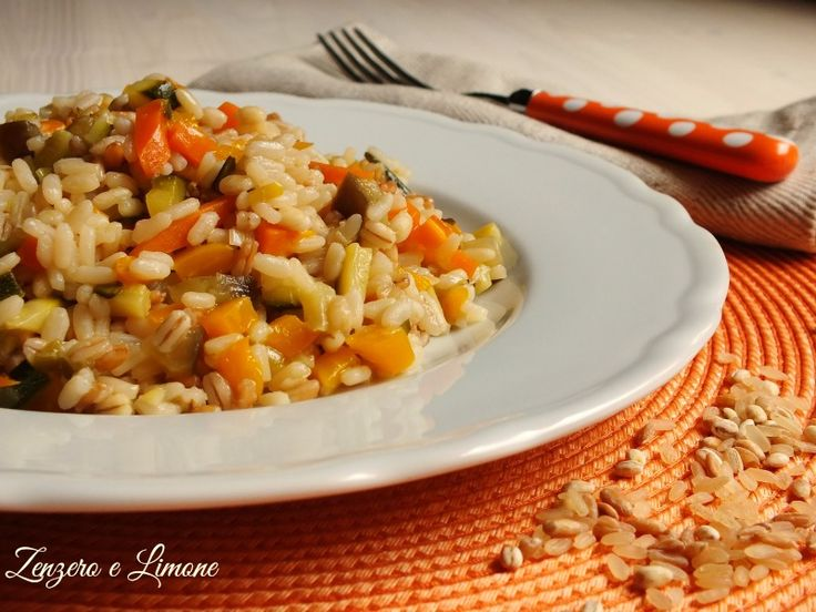risotto with vegetables cereals