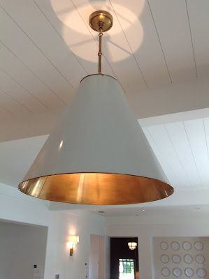 Circa lighting (Small Goodman Antique White/Brass) - Coastal Living Ultimate Beach house