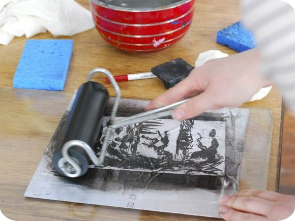 A post about Kitchen Lithography - printmaking with tin foil and Coke.
