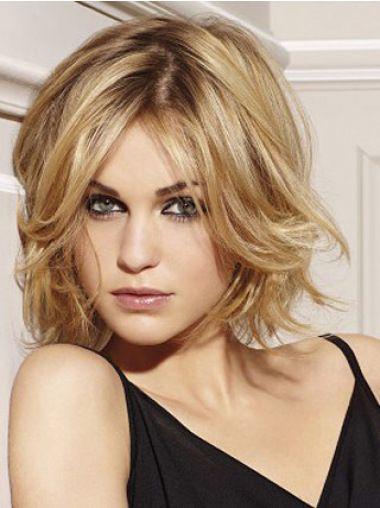 fuss blonde wavy chin length