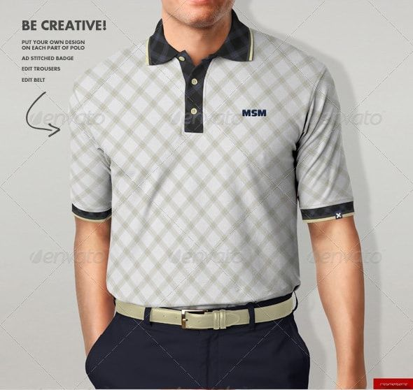 Polo T Shirt Mockup Front And Back Psd Free Polo Shirt Mock Up1 You Can Put Design On Each Material Part Using Smart Object Chest Sleeves Collar Under Buttons Ar Clothing Mockup Shirt Mockup Apparel