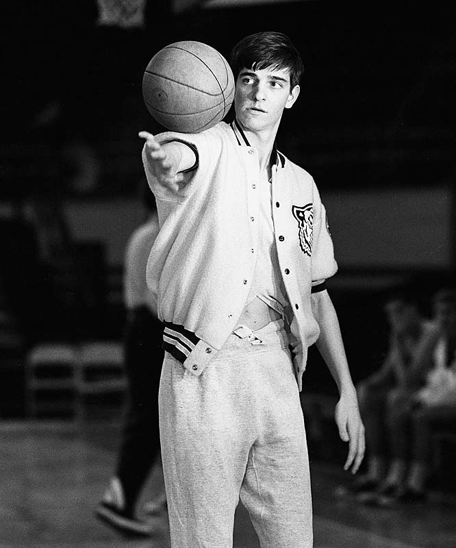 Pistol Pete Maravich. When Press Maravich moved his family to Raleigh to coach at NCSU, Pete attended Needham-Broughton HS...with my mom. I remember as a kid, looking through her yearbook at his photos, when he scored his 2000th point. He is my all-time favorite player...to this day, I strive to play his game.