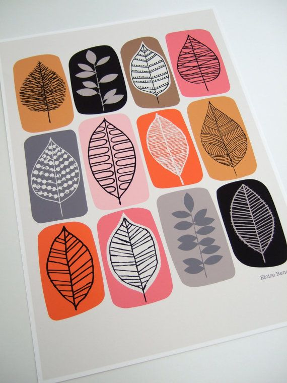 Leaf Blocks open edition giclee print by EloiseRenouf on Etsy