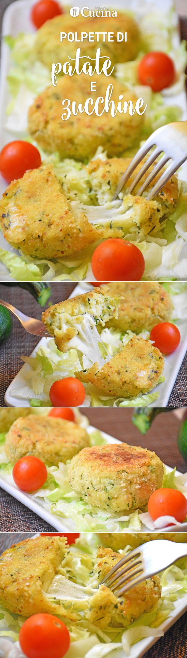 Le #polpette di #patate e #zucchine filanti sono un secondo piatto sfizioso…