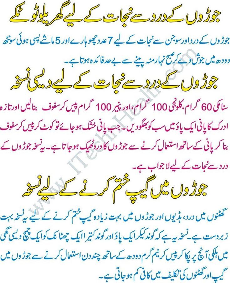 Joron Ke Dard Ka Ilaj Joint Pain Treatment In Urdu – iTechnHealth.com