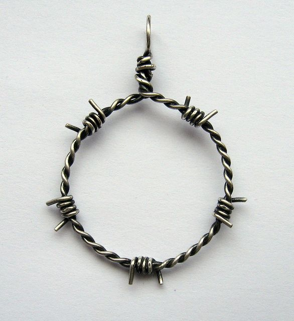 barbed wire pendant
