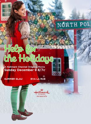 Hallmark Christmas movie~ Help For The Holidays starring Summer Glau as a conflicted elf who leaves the North Pole to help a family in need of Holiday Spirit ▲