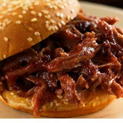 Slow-Cooker Sweet and Smokey Barbecue Pulled Pork Sandwiches #BBQ #Slowcooker #recipe