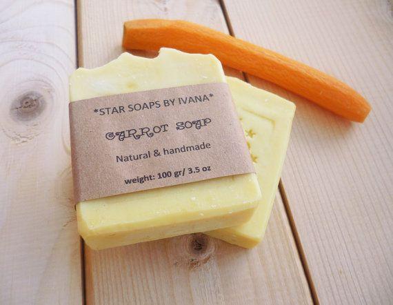 CARROT SOAP  Handmade Carrot Soap  Organic by StarSoapsbyIvana