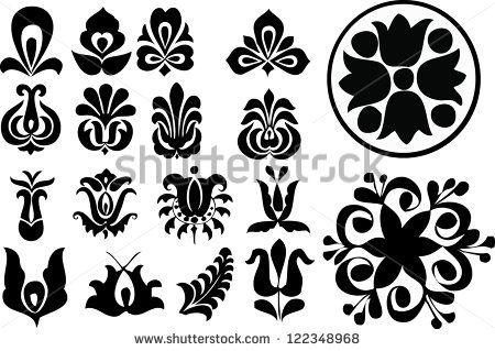 Hungarian motifs - stock vector