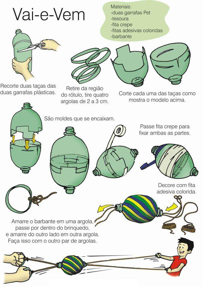 Como fazer um brinquedo vai-e-vem. #reciclagem #sustentabilidade #ecofriendly