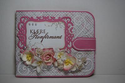 Lommebokkort Konfirmasjon Jente North Star Design Handmade Scrapping