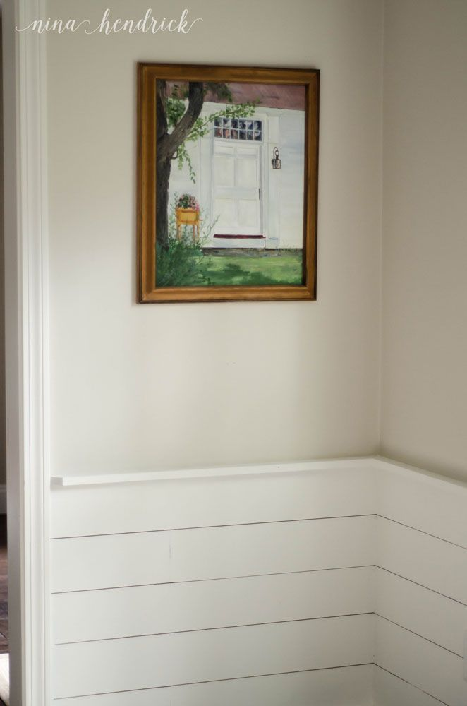 benjamin-moore-edgecomb-gray-with-simply-white-planking-or-shiplap-in-dining-room-by-nina-hendricks