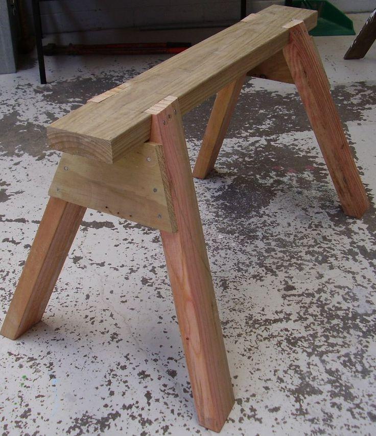 199 best sawhorses trestles images on pinterest wood for Diy carpentry plans