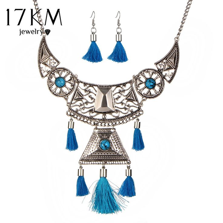 Price $8.22 Like and Share if you want this  17KM Geometric Tassel Necklace Jewelry Sets For Woman Bohemian Earings Bijoux Female Hollow Flower Necklaces Statement Jewelry     Tag a friend who would love this!       Buy one here---> https://www.fashiondare.com/17km-geometric-tassel-necklace-jewelry-sets-for-woman-bohemian-earings-bijoux-female-hollow-flower-necklaces-statement-jewelry/