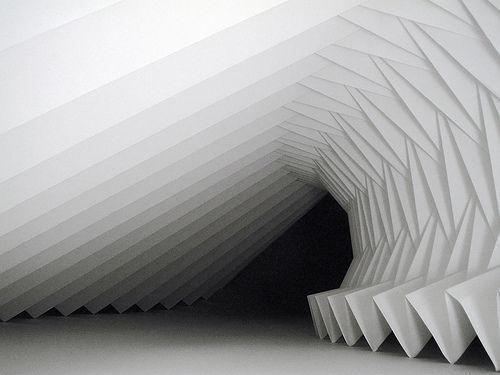 Paper pleat by Richard Sweeney, via Flickr