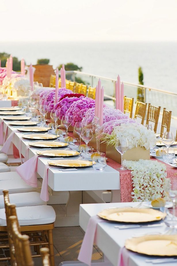 Pink and gold wedding decor ~ Photography: Thanasis Kaiafas, White Ribbon Boutique Events Coordination, Rammos Flowers