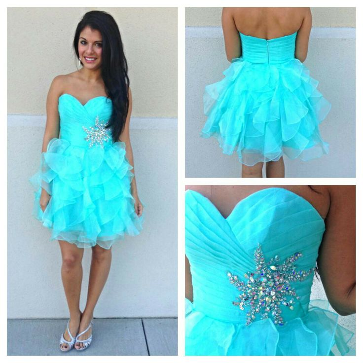 78 Best images about Prom on Pinterest - Teal blue- High low and ...
